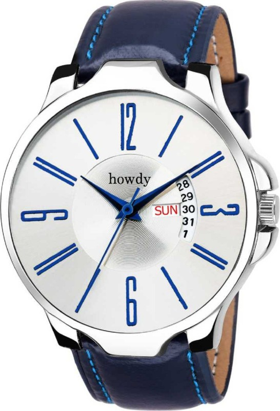 Howdy Analogue Quartz Day and Date Display Bronze CASE Silver DIAL Analog Watch - For Men