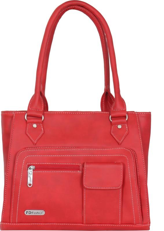 FD Fashion Soft Luggage Women Red Shoulder Bag
