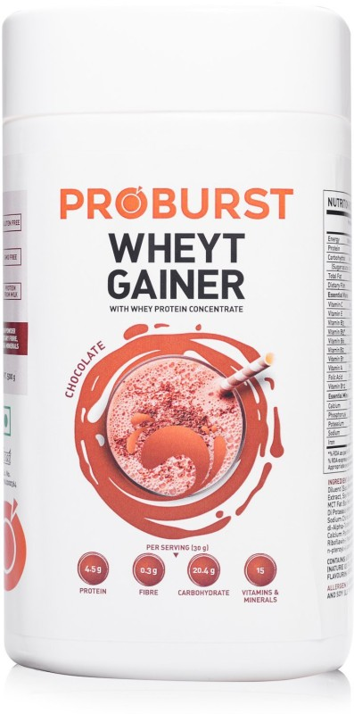 PROBURST WHEYT GAINER Weight Gainers/Mass Gainers(500 g, Chocolate)