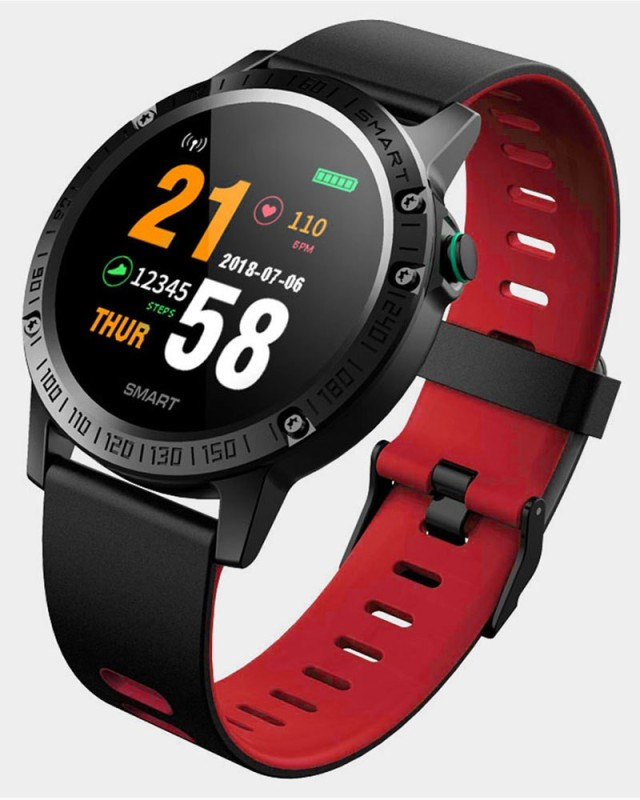 Bingo F6 smart fitness band (red)(Red Strap, Size : NORMAL)