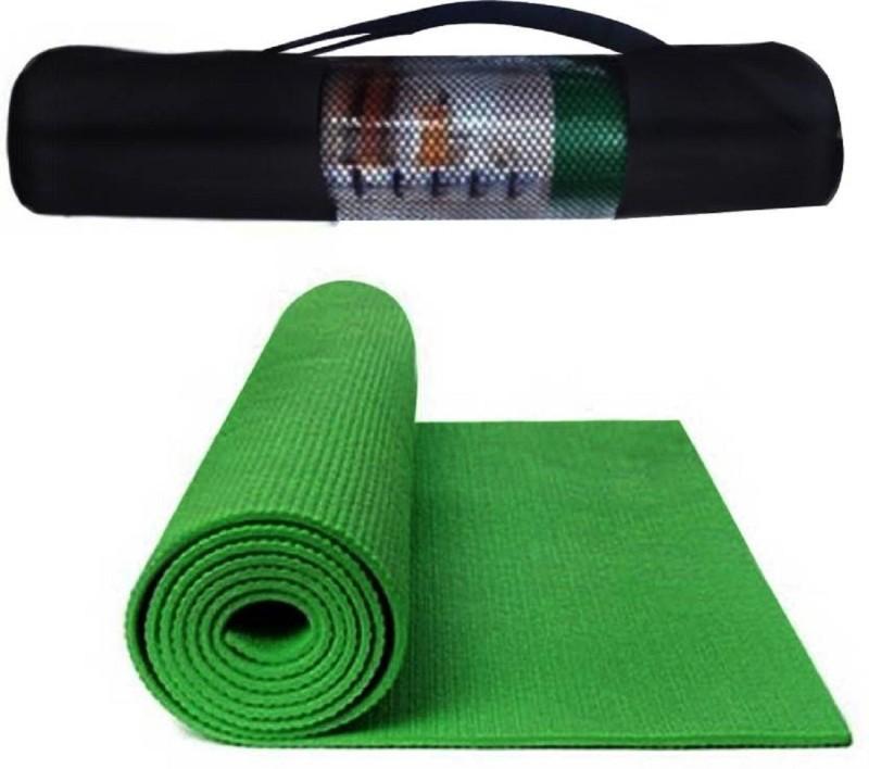 Quick Shel 6MM 100%EVA Eco Friendly Mat GREEN 6mm Yoga, Exercise & Gym Mat With Bag Green 6 mm Yoga Mat