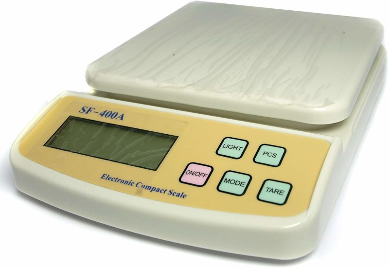 ZIORK Premium Quality Electronic Compact Kitchen Scale SF-400A (1gm to 10kgs) Weighing Scale(OFF WHITE)