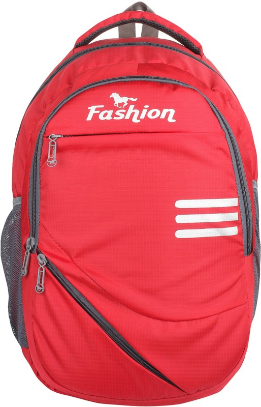 Hot Shot Polyester 25Liters School, Collage and Casual Backpack 30 L Laptop Backpack(Red)
