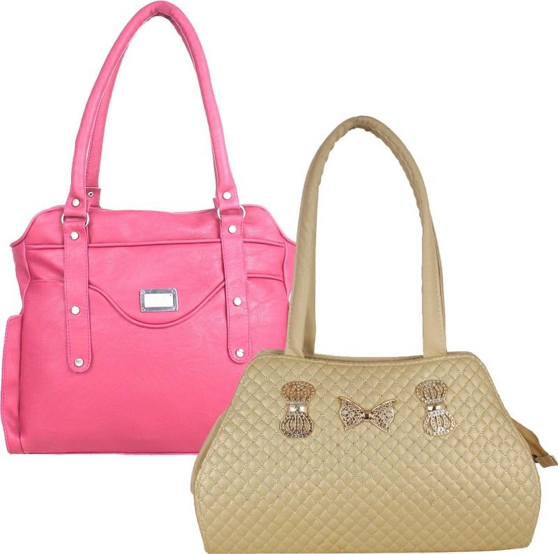 Fillincart Women Gold, Pink Hand-held Bag
