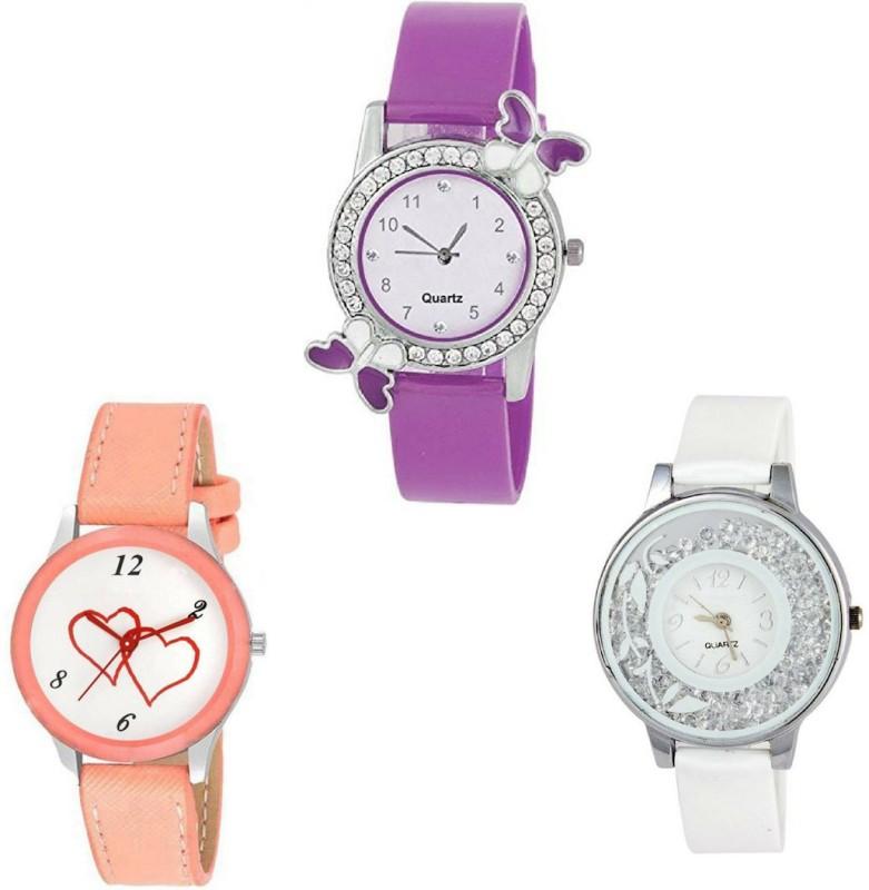 Exotica New Stylish Designer Fancy Diamond Studded Butterfly Deign Girls Watch Analog Watch  - For Girls