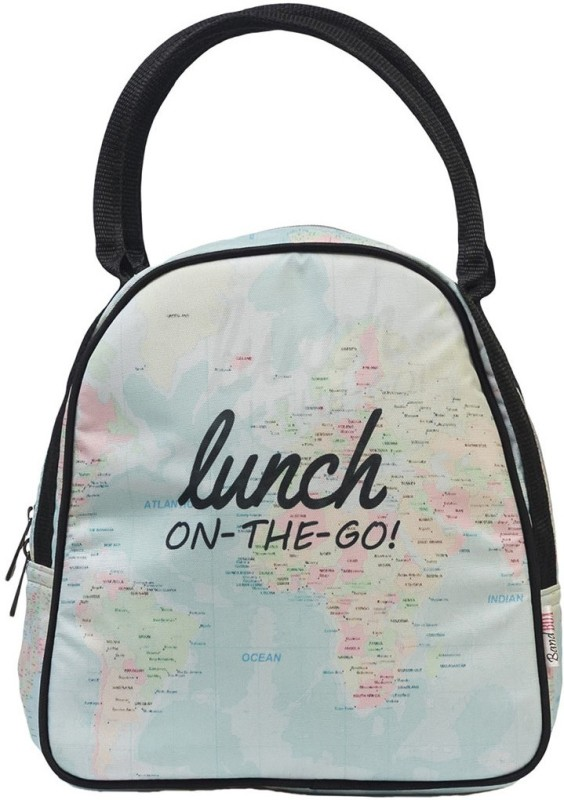 Band Box BGLUNCHONTHEGO Waterproof Lunch Bag(Pink, 10 inch)