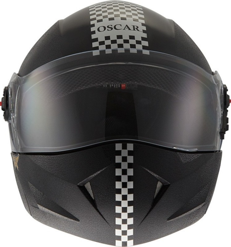 Steelbird SB-41 OSCAR Dashing Motorsports Helmet(White, Black)