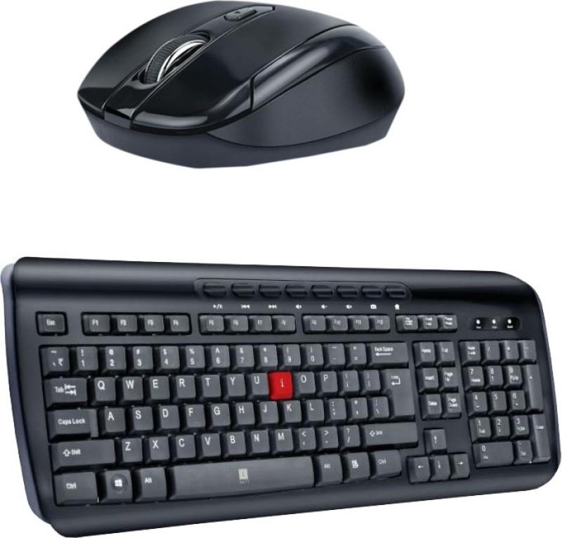 IBALL Multimedia Keyboard-MM2-Wireless Mouseh-FREEGO6_ Black Combo Set