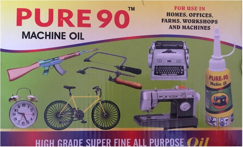 PURE 90 SEWING MACHINE OIL (PACK OF 2 BOTTLES)TOTAL 100 ML 100 ml Sewing Machine Oil(Bottle)