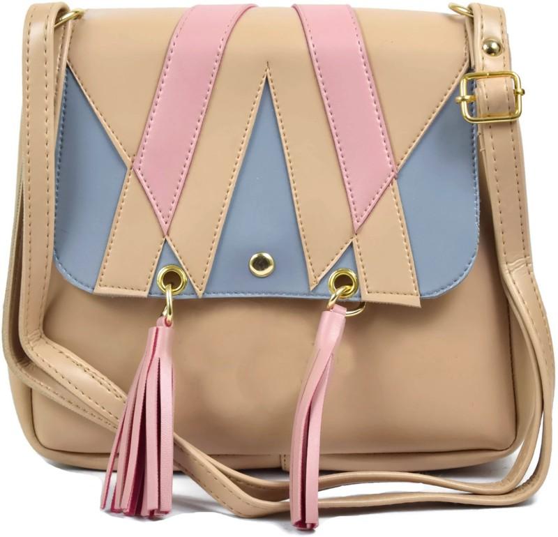 Ferishta Beige, Blue, Pink Sling Bag