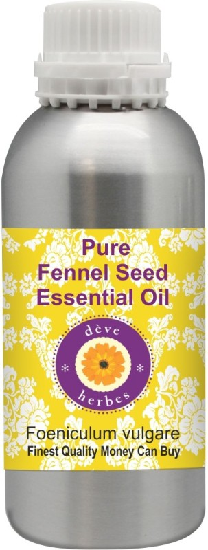 Deve Herbes Pure Fennel Seed Essential Oil 300ml (Foeniculum vulgare) 100% Natural Therapeutic Grade Steam Distilled(300 ml)