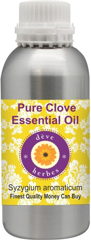 Deve Herbes Pure Clove Essential Oil 300 ml (Syzygium aromaticum) 100% Natural Therapeutic Grade Steam Distilled(300 ml)