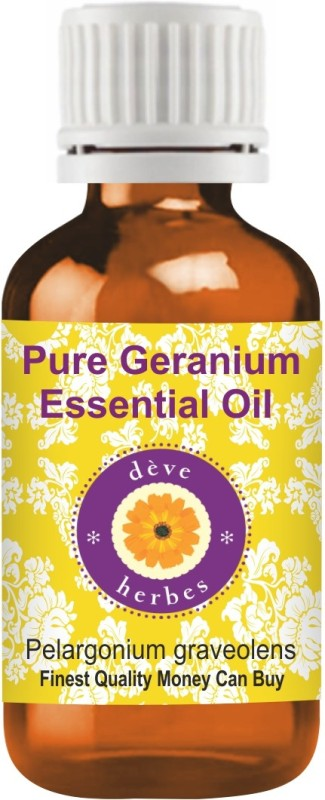 Deve Herbes Pure Geranium Essential Oil - Pelargonium Graveolens(10 ml)