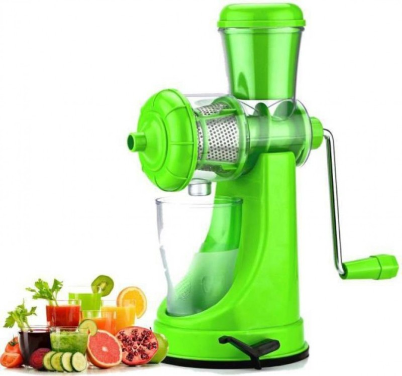 HAPPI Fruit and Vegetable Juicer,Juicer for All Fruits prince Stainless Steel, Plastic Hand Juicer(Green Pack of 1)