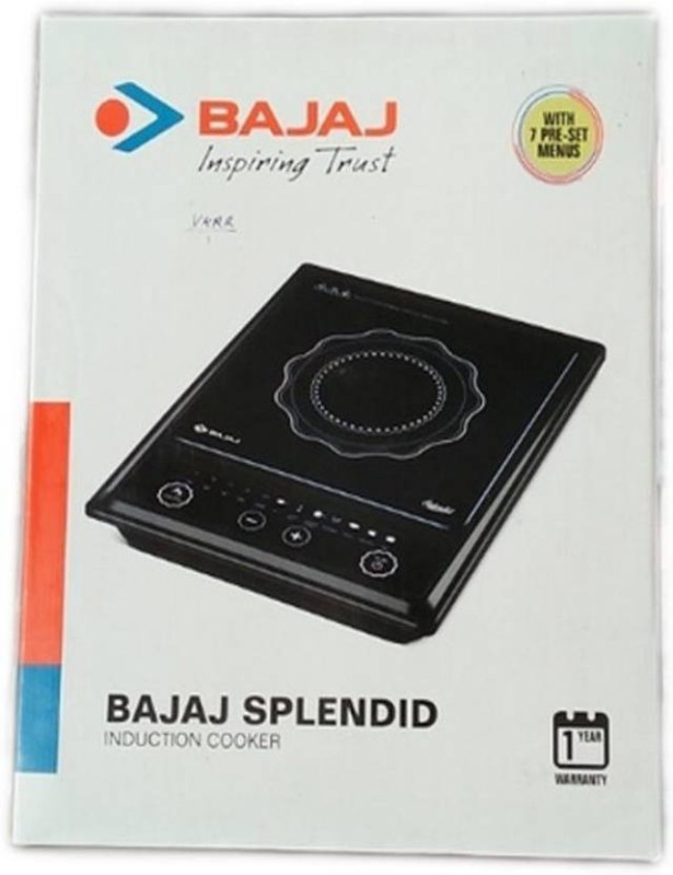 Bajaj Splendid Induction Cooktop(Black, Push Button)