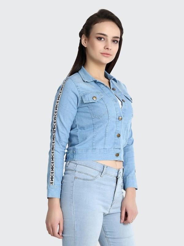 BuyNewTrend Full Sleeve Ombre Women's Denim Jacket