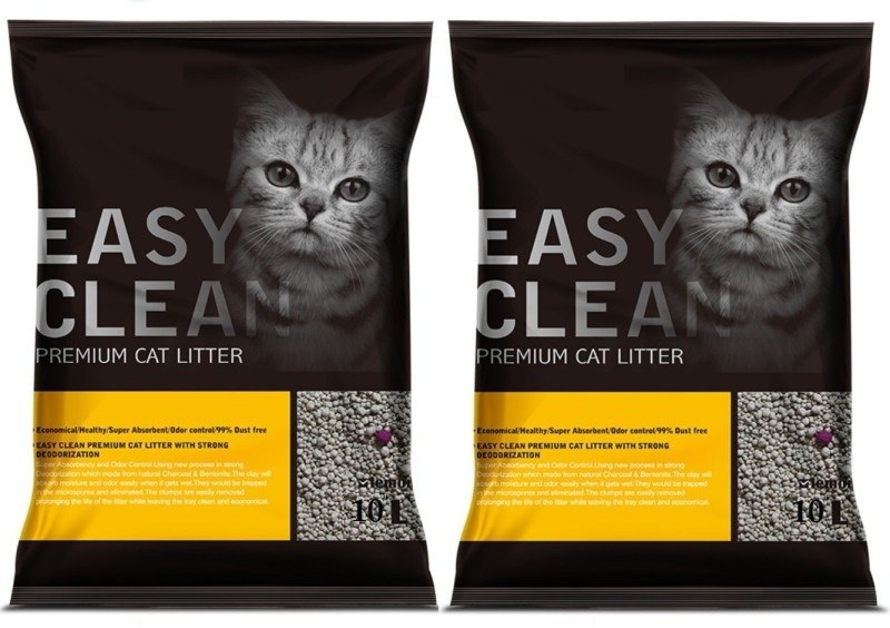 Emily Pets Lemon Flavor 10L Pack of 2 Pet Litter Tray Refill