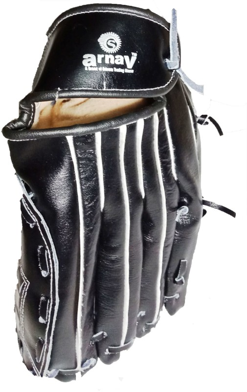 Arnav Baseball Gloves Leather Baseball Gloves (L, Black)