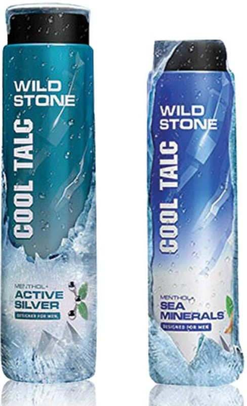 Wild Stone 1 Cool Active Silver 300GM, 1 Cool Sea Minerals 100GM(2 x 200 g)