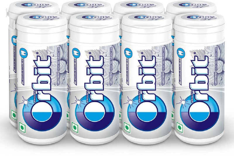 Orbit Chewing Gum Tube, 22g (pack of 8) Sweetmint Chewing Gum(8 x 22 g)
