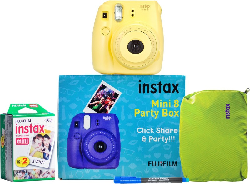 Fujifilm Instax Mini 8 Party box Yellow Instant Camera(Yellow)