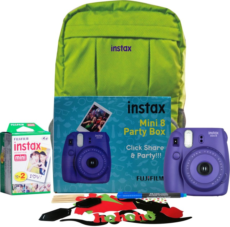 Fujifilm Instax Mini 8 Party box Grape Instant Camera(Purple)
