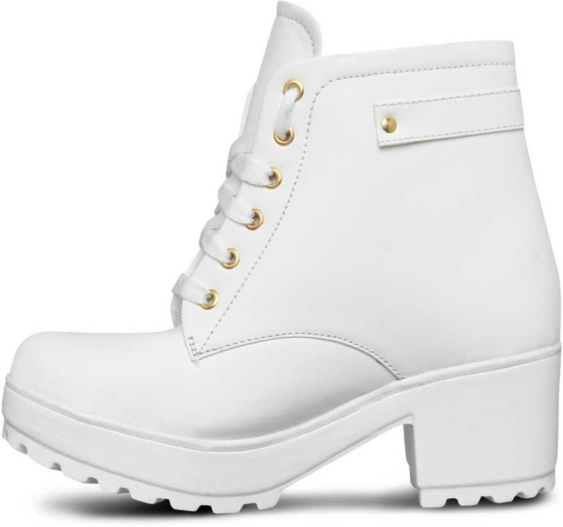 Krafter women boots Boots For Women(White)