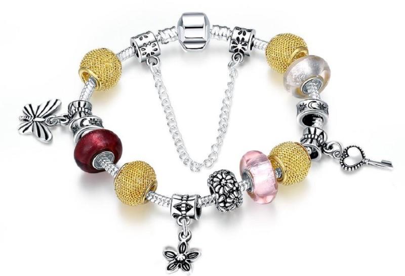Aquastreet Alloy Crystal Charm Bracelet