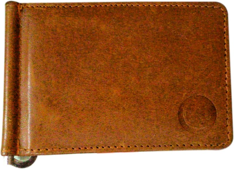 Bewitching Alisha International Leather- Genuine Leather Men's Wallet with Money Clip - Brown Leather Money Clip(Brown)