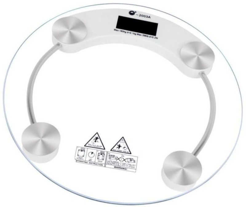Urweigh Personal Weight Machine Human Body Digital Thick Transparent Glas Weighing Scale(White)