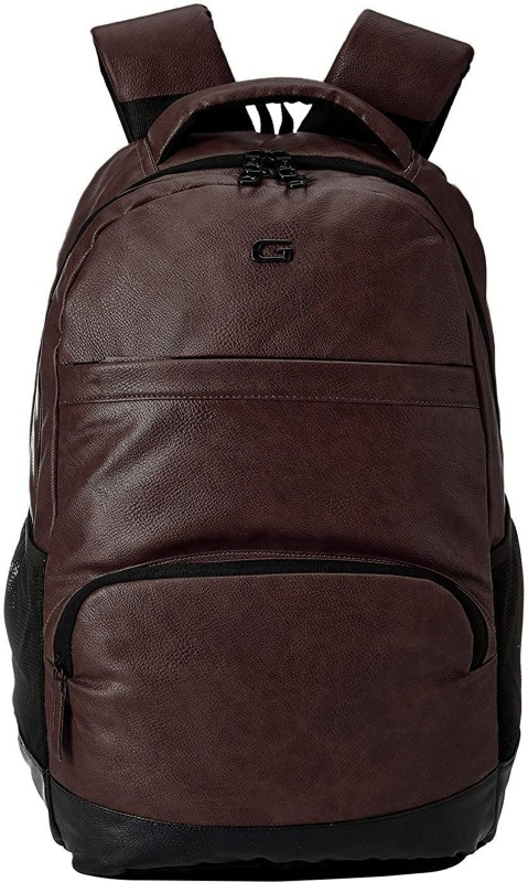 b75dcfefd Gear VINTAGE2 ANTI THEFT FAUX LEATHER 28 L Laptop Backpack(Brown, Black)