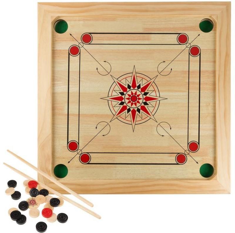 oms Carrom Board Small Size 12.7 Carrom Board 12.7 inch Carrom Board(Brown)