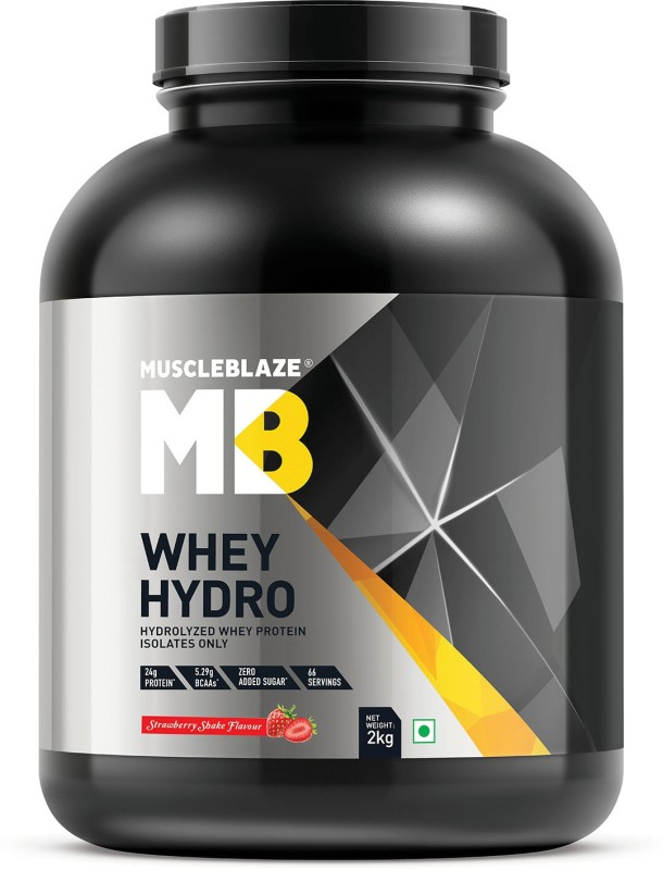 MuscleBlaze Whey Hydro Whey Protein(2 kg, Strawberry Shake)