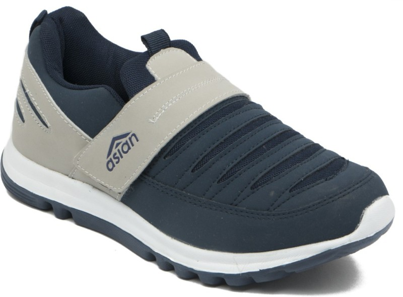 Asian Walking Shoes For Men(Navy, Grey)