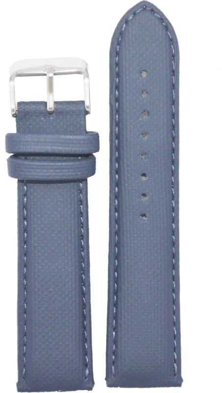 kolet Dotted Padded 22BU 22 mm Leather Watch Strap(Blue)