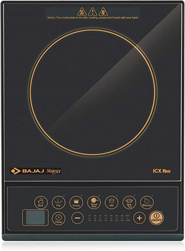 Bajaj Majesty ICX Neo Induction Cooktop (Black) Induction Cooktop(Black, Touch Panel)