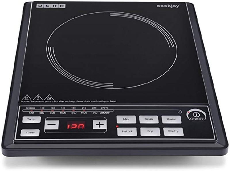 Usha Cook Joy (2102 P) 2000-Watt Induction Cooktop (Black) Induction Cooktop(Black, Touch Panel)