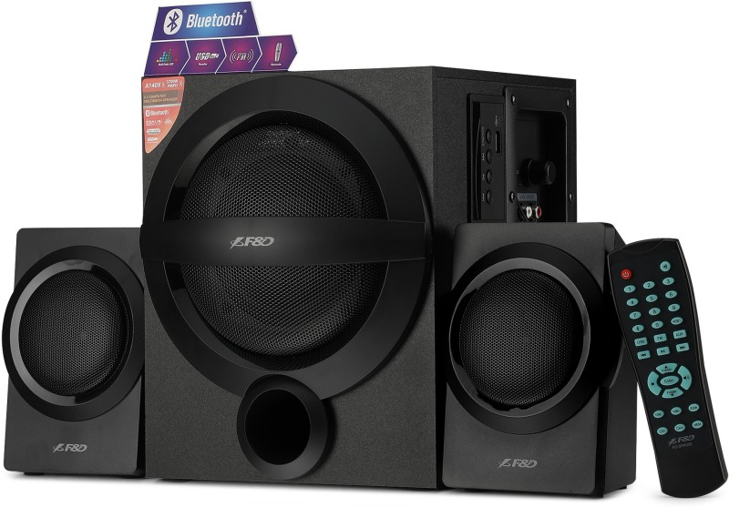F&D A140X 37 W Bluetooth Home Audio Speaker(Black, 2.1 Channel)
