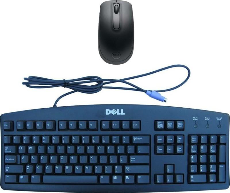 Dell Multimedia Keyboard-PS2 104-Wireless Mouseh-WM118_ Black Combo Set