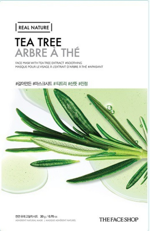 The Face Shop Unisex Real Nature Tea Tree Face Mask (sheet mask)(20 g)