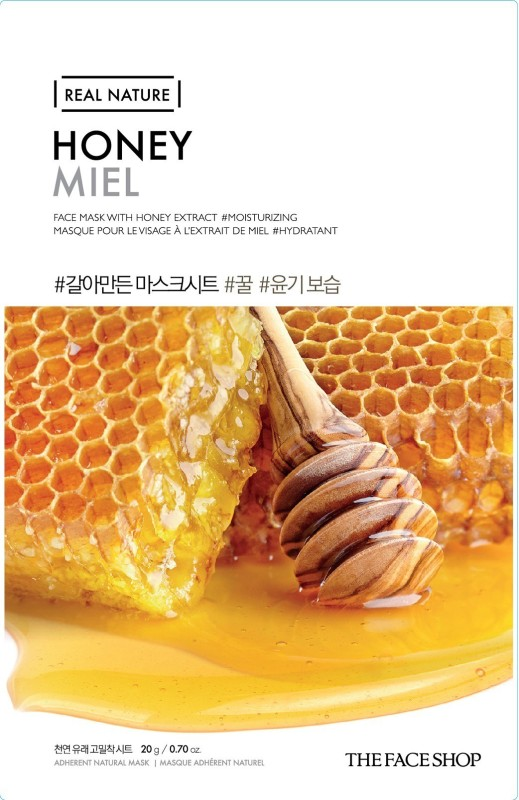 The Face Shop Unisex Real Nature Honey Face Mask (sheet mask)(20 g)