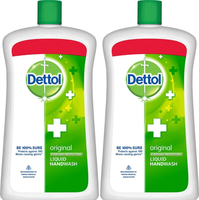 Dettol Liquid Handwash Soap Jar, Original - 900 ml(1800 ml, Bottle, Pack of 2)