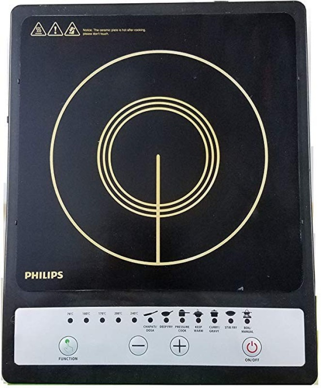 Philips HD4920 Induction Cooktop Save Energy Induction Cooktop(Black, Touch Panel)