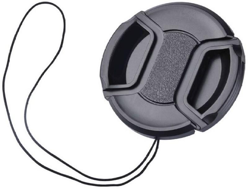 BOOSTY 77MM Center Pinch Lens Cap Lens Cap(Black, 77 mm)