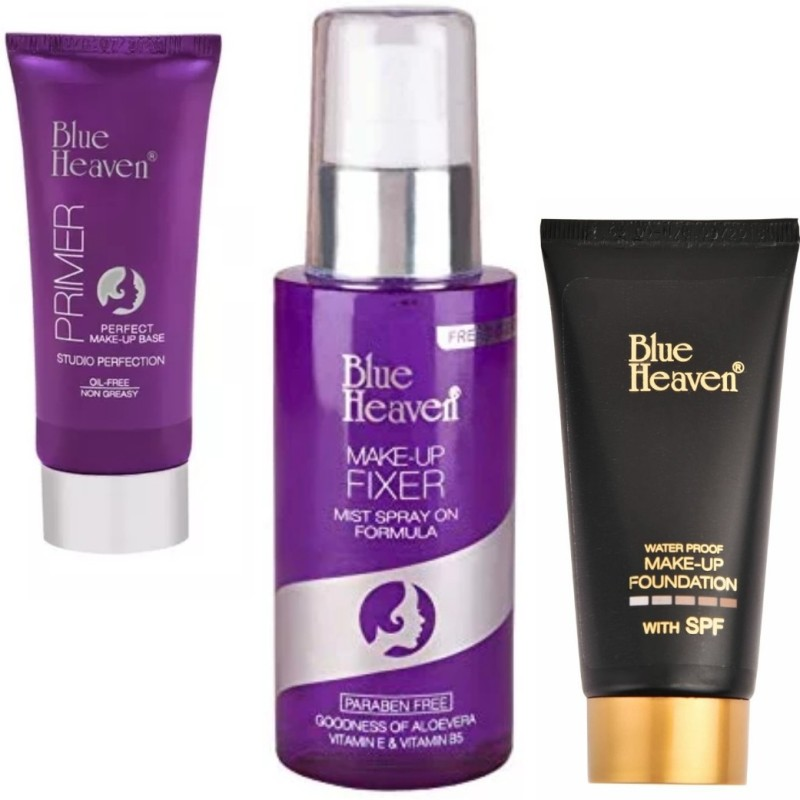 Blue Heaven primer & make up fixer & foundation tube(3 Items in the set)