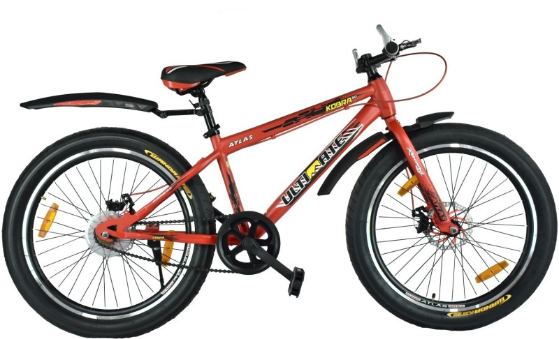 Atlas Kobra 3.0 Dual Disc Brake Fat Tyres Bike For Teenagers Red 24 T Mountain Cycle(Single Speed, Multicolor)
