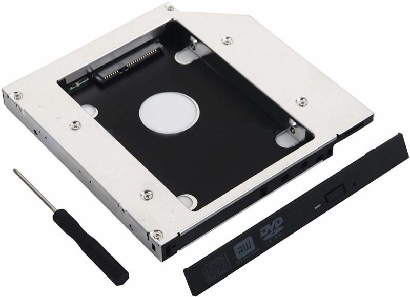 Buyyart New 12.7mm Universal 2nd HDD SSD Hard Drive Caddy for CD/DVD-ROM Optical External DVD Writer(Black)