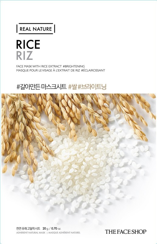 The Face Shop Real Nature Rice Face Mask Sheet Mask(20 g)