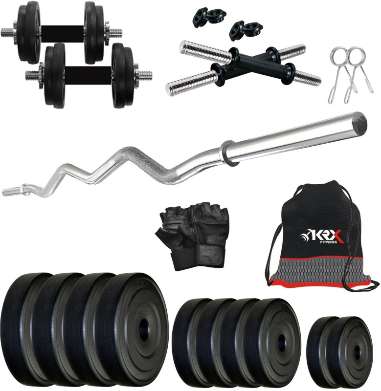 KRX PVC 12 KG COMBO 4 -SL Home Gym Kit