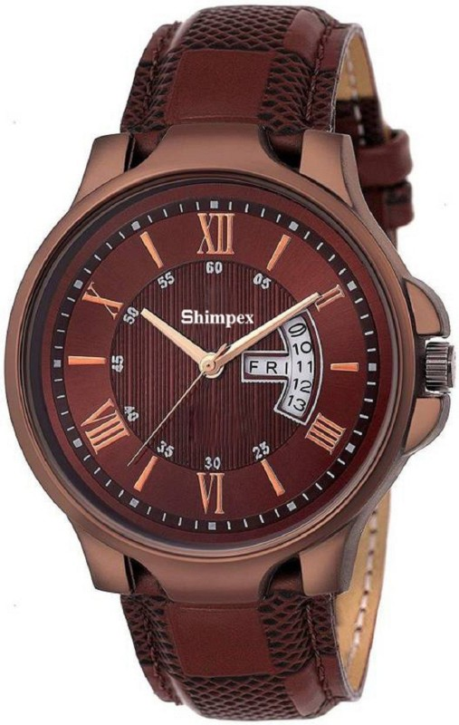 SHIMPEX ER16FEB1987 Roman watch for man Day And Date Function (1 year warranty) Watch - For Men